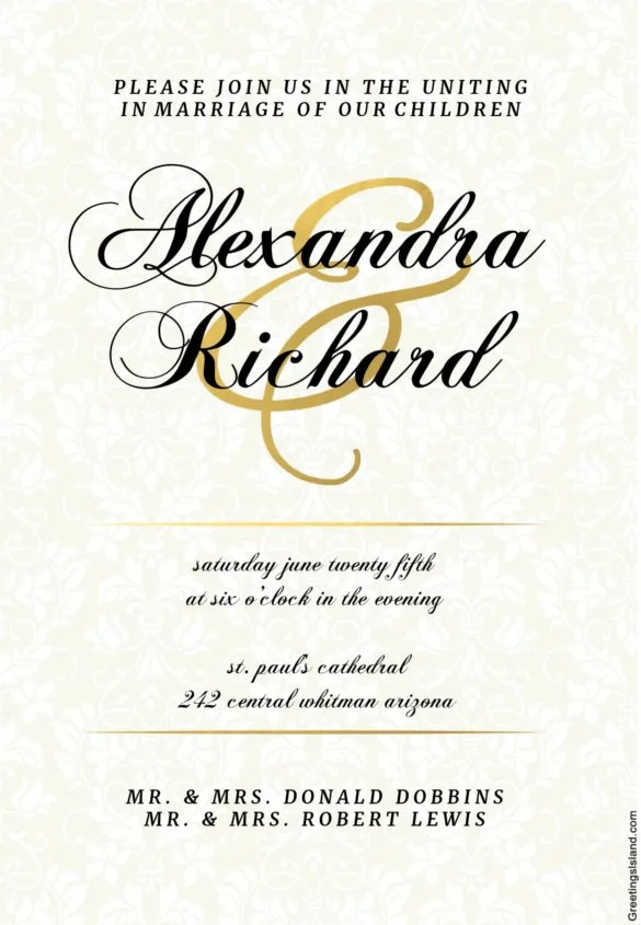 Dappled Distinction Printable Wedding Invitation Template