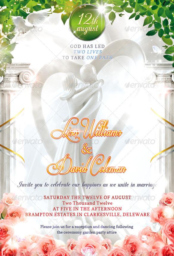 15 Second Marriage Wedding Invitations PSD AI EPS Free Amp Premium Templates