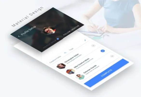 50 Latest Free Android App Design Templates