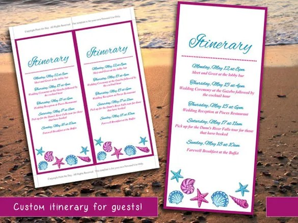 11 Event Itinerary Template DOC PDF PSD Free