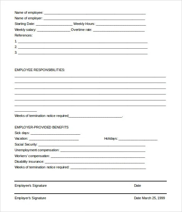 employee termination form sample - April.onthemarch.co
