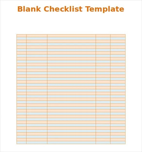 checklist template word free download