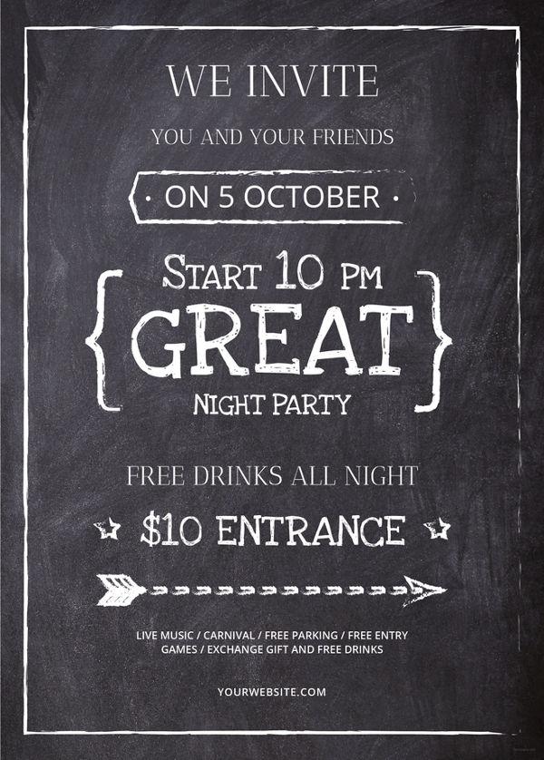 chalkboard flyer template free