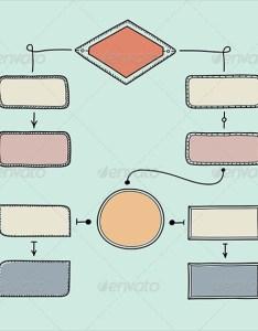 Retro blank flowchart design also chart template free psd vector eps word pdf format rh
