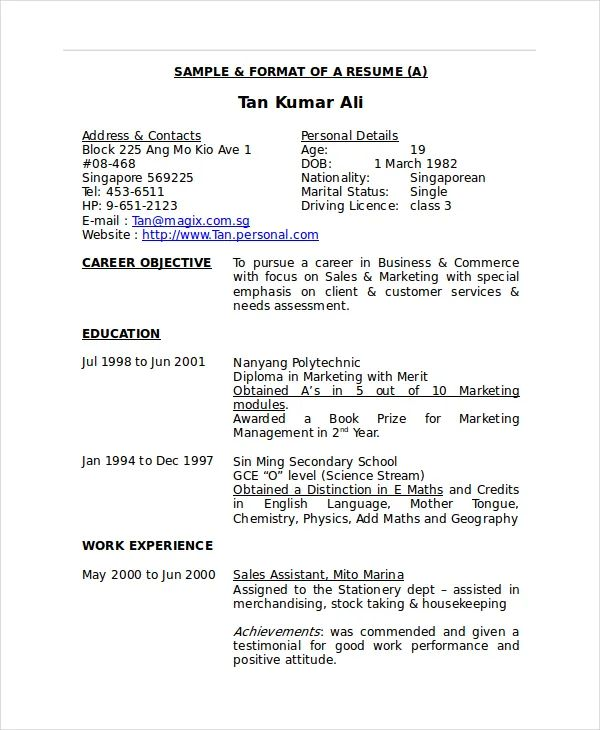 how to add experience in word resume template