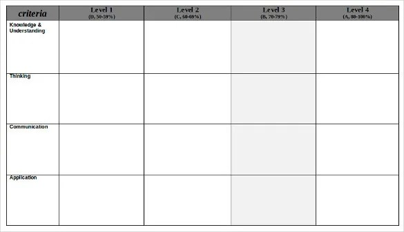 blank rubric template - April.onthemarch.co