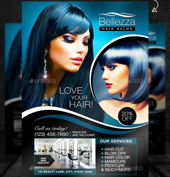 84 Beauty Salon Flyer Templates PSD EPS AI