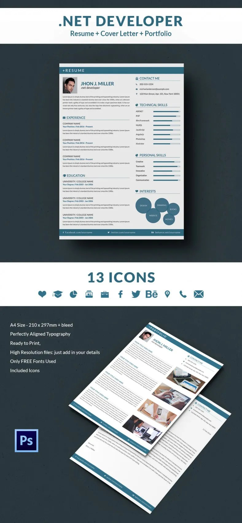 Web Design Resume Template Free Download Creative Resume Template 79 Free Samples Examples Format