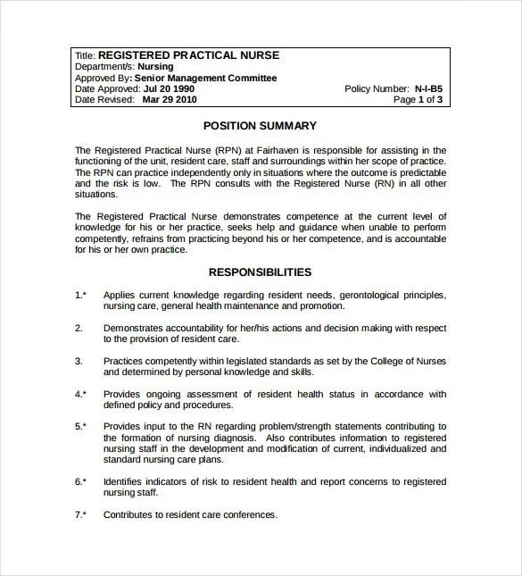 10 Registered Nurse Job Description Templates  Free