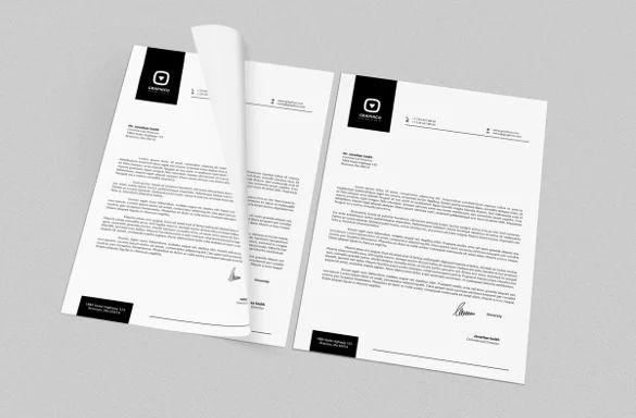 letterhead format free download