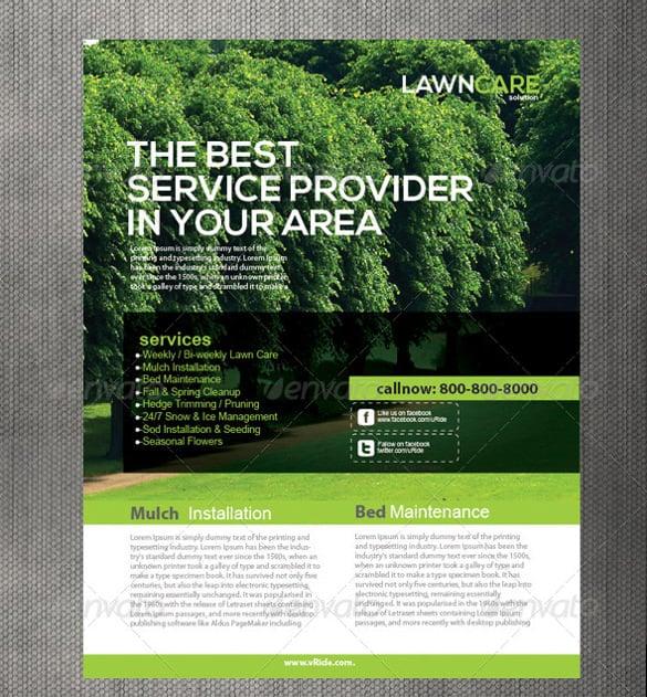 lawn care flyers - psd ai