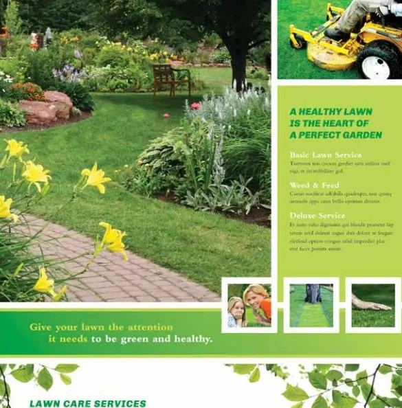 lawn care flyers - psd ai