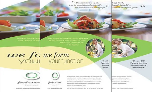 Catering Brochure Examples Ideal Vistalist Co