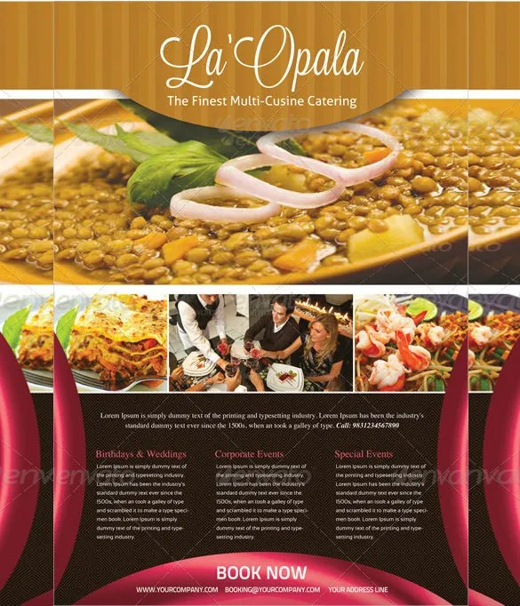 23 Catering Flyers PSD AI Vector EPS Free & Premium