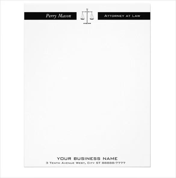 10+ Legal Letterhead Templates