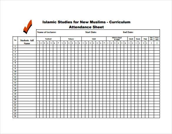 students attendance register