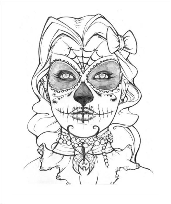 Skull Drawing Template