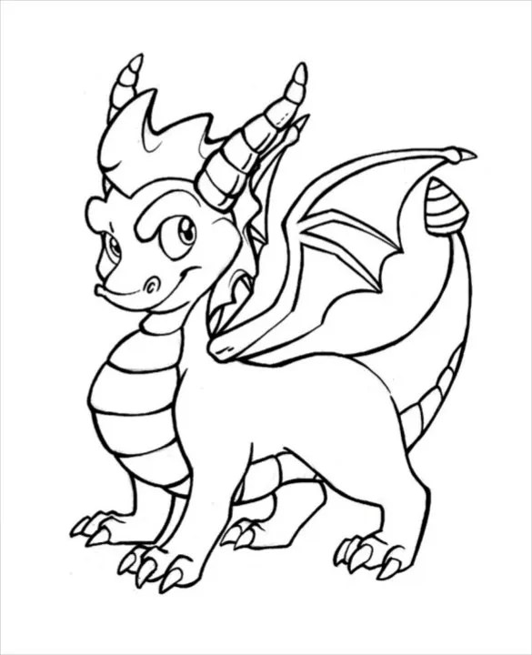 12 dragon drawing template  free pdf documents download
