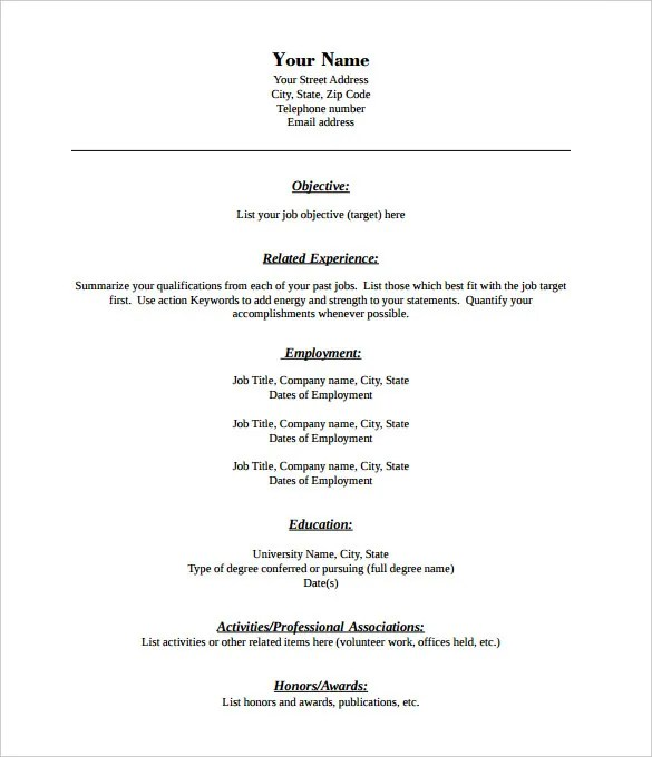 40 blank resume templates free samples examples format - Resume Templates Free Pdf