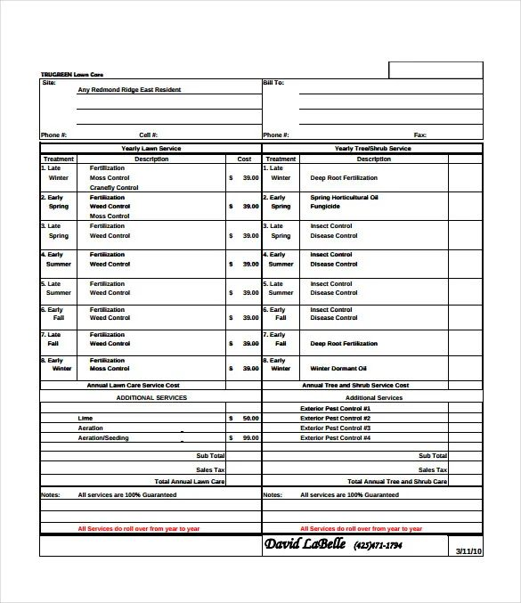contractor bid sheet template