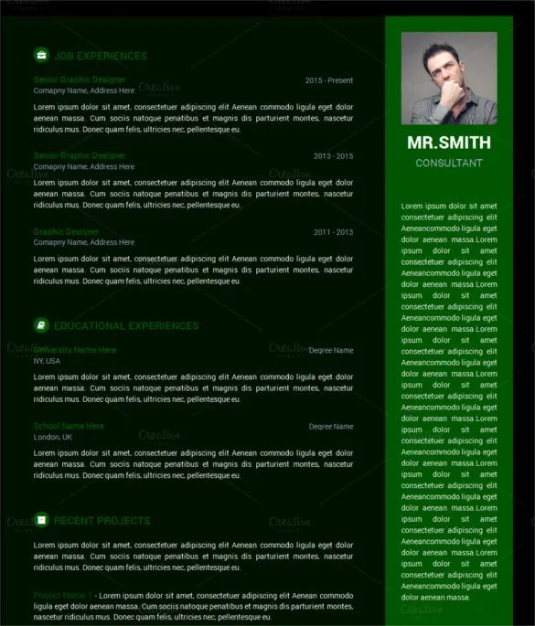 simple resume html5 template