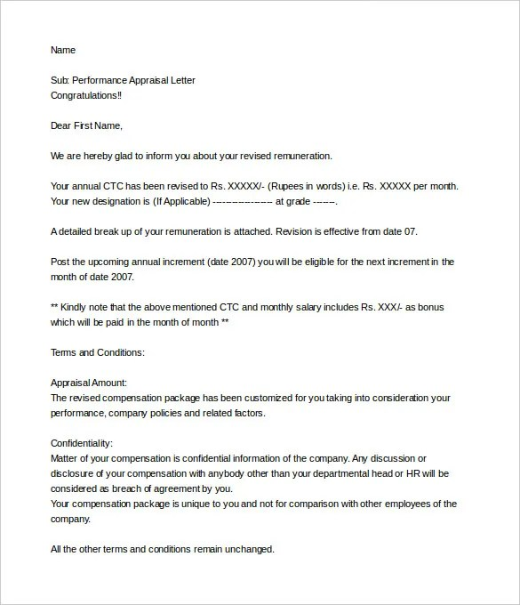performance evaluation letter - April.onthemarch.co