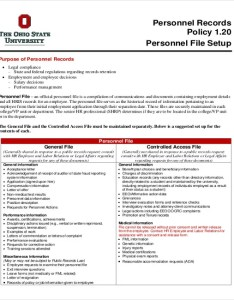 Personnel record policy template also employee templates free word pdf documents download rh