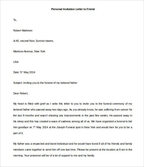 44 Personal Letter Templates PDF DOC Free & Premium