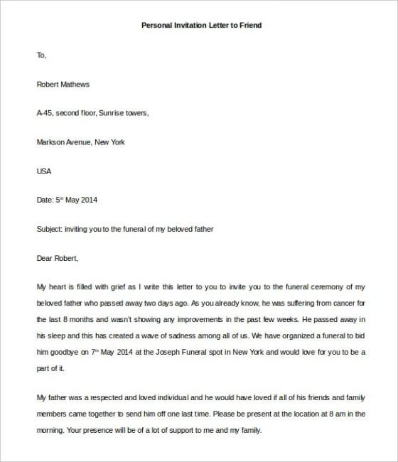 Sample Formal Invitation Letter Opening Ceremony Wedding