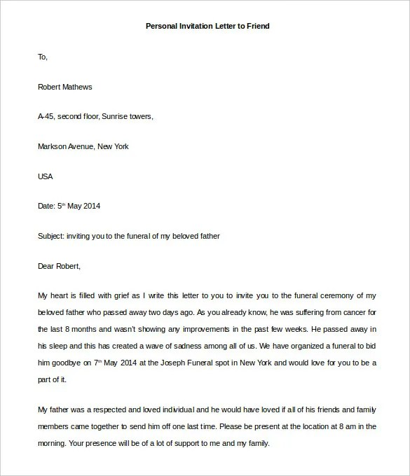 Personal Letter Template 39 Free Sle Exle Format