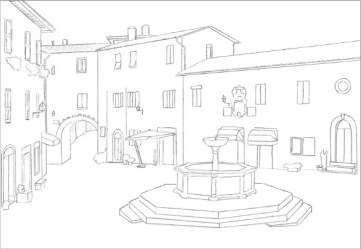 drawing easy street template drawings templates plaza textures realistic pdf format scene