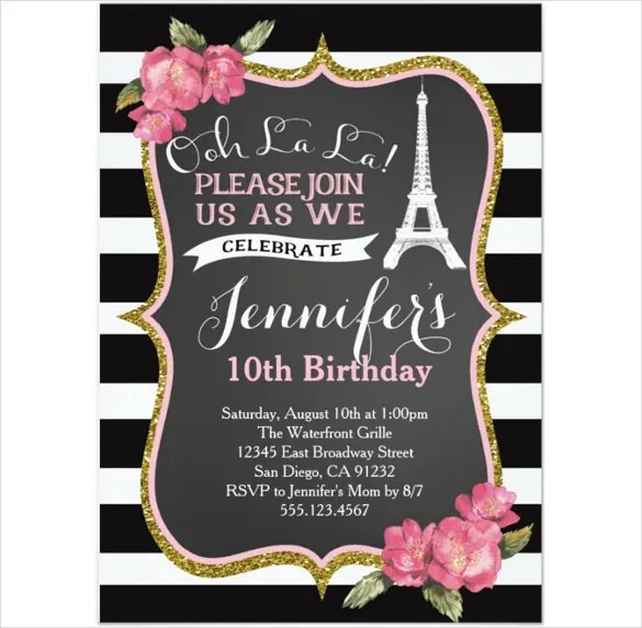 Birthday Invitation Format