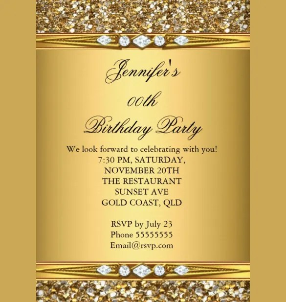 22 Birthday Invitation Templates Free Sample Example