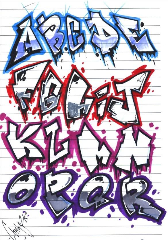 Graffiti Alphabet Letter Template 20