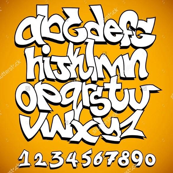 Graffiti Alphabet Letter Template – 20 Free PSD EPS
