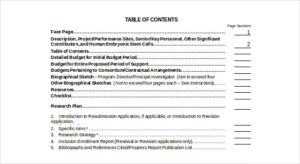 22 Table Of Contents – PDF DOC Free & Premium Templates