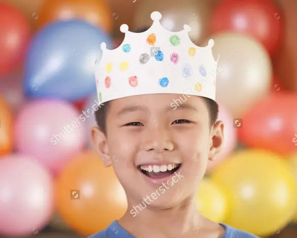 birthday crown template