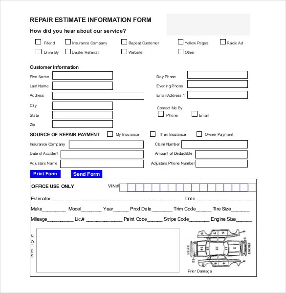 computer repair estimate template free download champlain college publishing. Black Bedroom Furniture Sets. Home Design Ideas