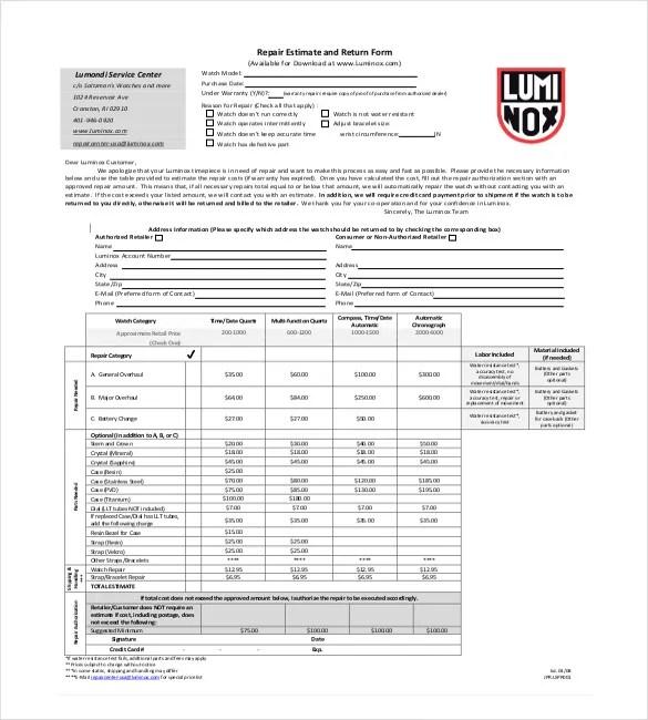 Mike anderson's forms for the collision repair industry. 21 Repair Estimate Templates Word Pdf Google Docs Apple Pages Free Premium Templates