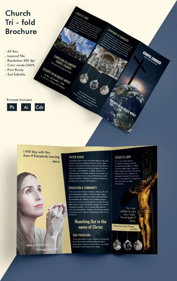 word tri fold brochure template