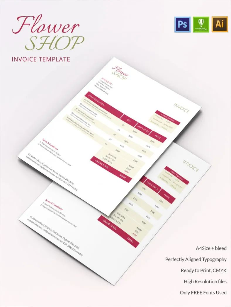 apple pages invoice template