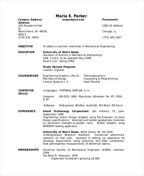 Research Resume Template Scientific Resume Template Research