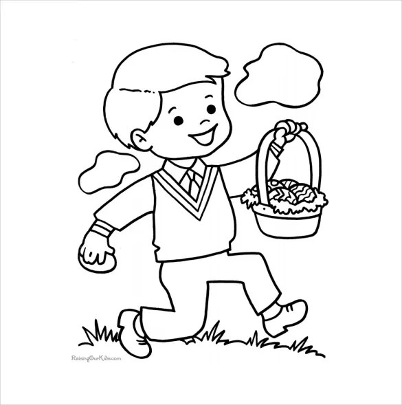 16+ Easter Colouring Pages