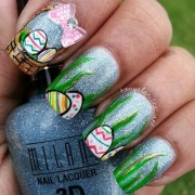 simple and easter nail