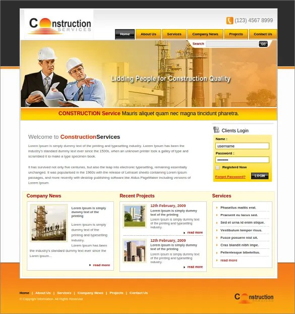 42 Engineering Website Themes  Templates  Free