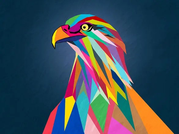 20 Awesome Geometric Bird Art  Free PSD Vector EPS PNG