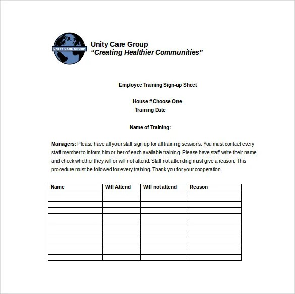 19 Sign Up Sheet Templates  Free Sample Example Format Download  Free  Premium Templates