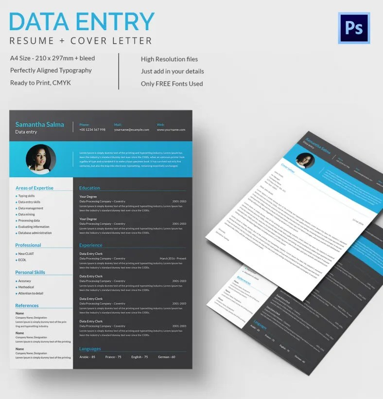 51 Creative Resume Templates – Free PSD EPS Format