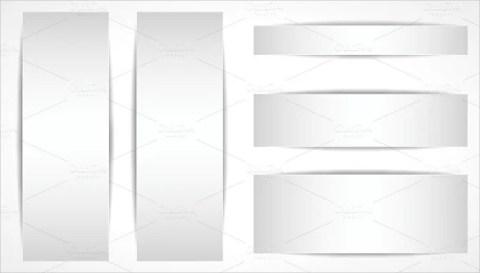 Vector Blank Sample Banner Template