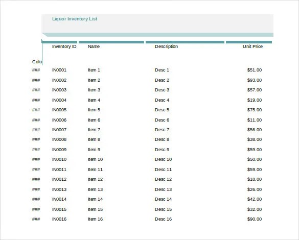 17+ Excel Inventory Templates – Free, Sample, Example, Format ...